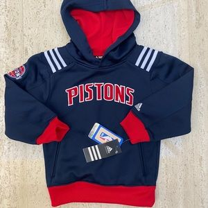 Adidas Detroit Pistons hoodie NWT. 5/6T